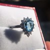 3.30ctw Aquamarine and Diamond Cluster Ring 23