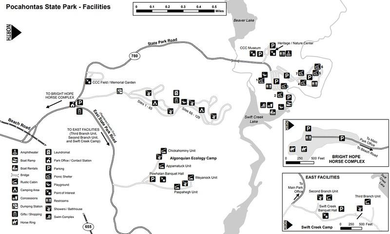 Pocahontas State Park (Facilities Map)