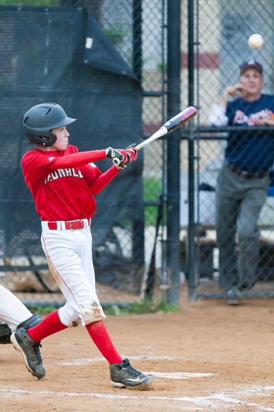 Mac hits a RBI double in the top of the 5th inning. Nats lead 8-3. The Nationals played well both offensively and defensively, and won 10-3 over the Braves. They are now 5-3 for the season. 2012 Arlington Little League Baseball, Majors Division. Nationals vs Braves (08 May 2012) (Image taken by Patrick R. Kane on 08 May 2012 with Canon EOS-1D Mark III at ISO 3200, f2.8, 1/1250 sec and 200mm)