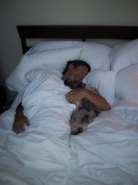 Tony Danno Sleeping with Dog.JPG