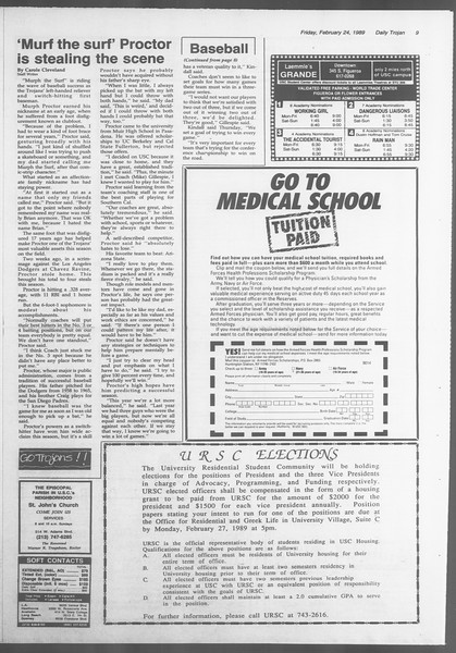 Daily Trojan, Vol. 108, No. 29, February 24, 1989