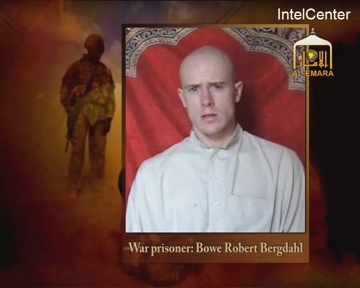 . This is an image from video made available by IntelCenter shows a video frame grab from the Taliban propaganda video released Friday Dec. 25, 2009 purportedly showing U.S. soldier Pfc. Bowe Bergdahl, 23, of Ketchum Idaho who was captured more than five months ago in eastern Afghanistan.It could not be confirmed immediately that it was Bergdahl in the new video, which was released to The Associated Press and other news organizations. The man identifies himself as Bergdahl, born in Sun Valley, Idaho, and gives his rank, birth date, blood type, his unit and mother\'s maiden name before beginning a lengthy verbal attack on the U.S. conduct of the war in Afghanistan and its relations with Muslims. (AP Photo/via IntelCenter)
