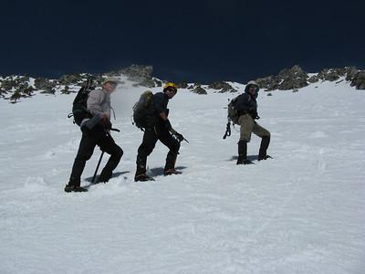 Snow climb up the Baldy Bowl 3-13-10