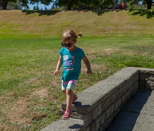 Olivia visits Vashon Island for my birthday!