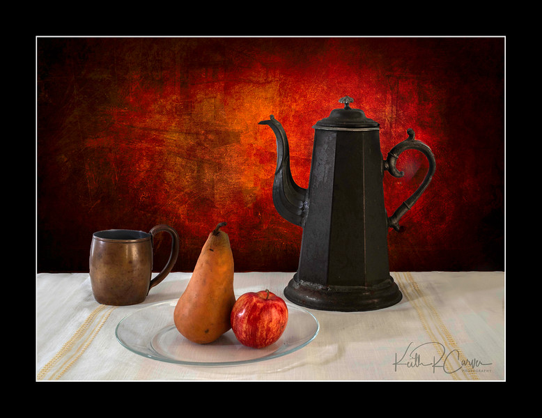 Fruit with pitcher and cup