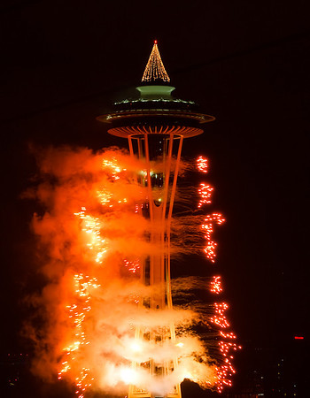 Space Needle New Year 2010