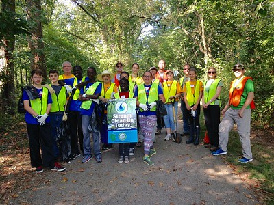 9.10.2016 Watershed cleanup along #9 Trolley Trail/Cooper Branch