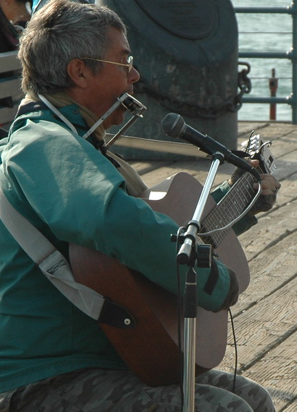 Musician on Santa Monica pier