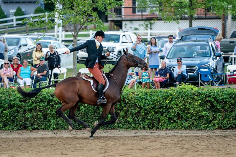 Cracking the whip at Warrenton Horse Show Hunt Night September 2019
