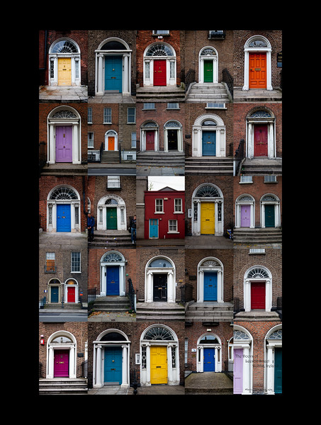 The Doors of Leeson Street, Dublin