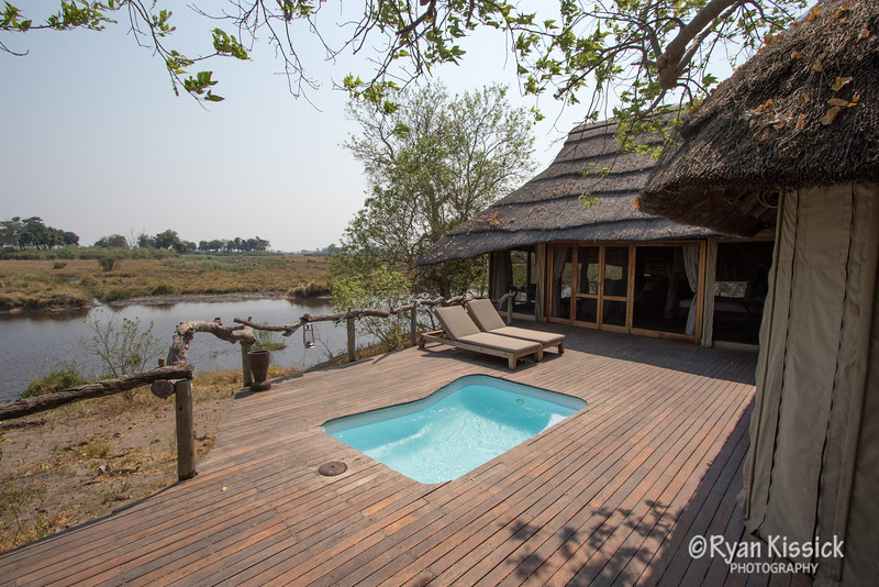 The view of our suite at Kings Pool in Botswana.