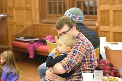 Santa visits Faculty/Staff kids 12.3.18