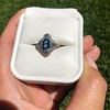 1.41ctw Art Deco Style Aqua and Diamond Dinner Ring 24