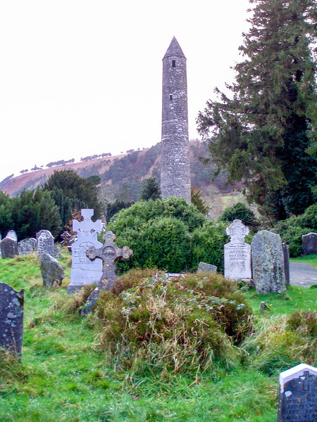 Round tower at Glendalough