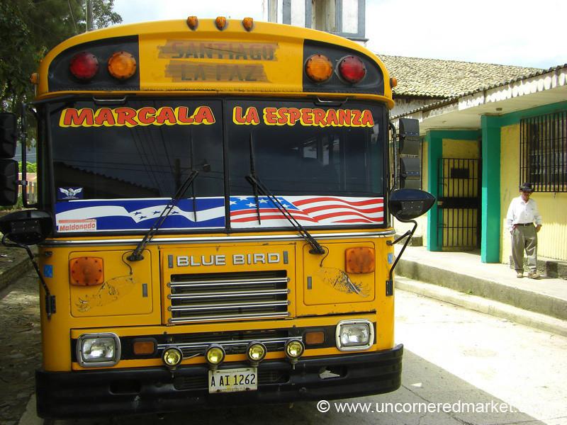 Old American School Bus - La Esperanza, Honduras