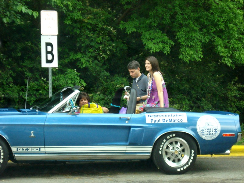 Rep_ Paul DeMarco's blue Mustang GT 350.jpg