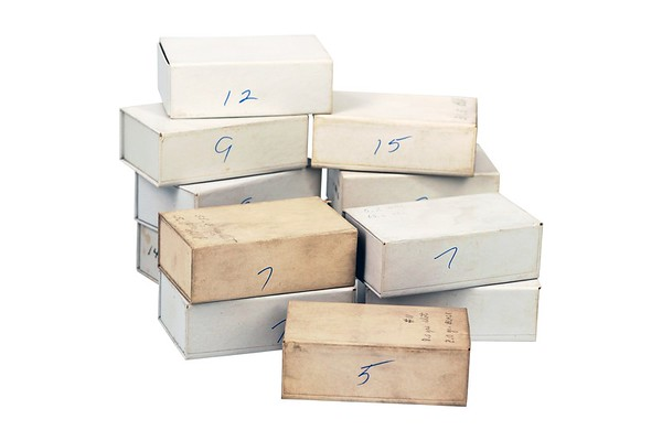 Boxes Cartridges were stored in from the White & Munhall Reference Collection