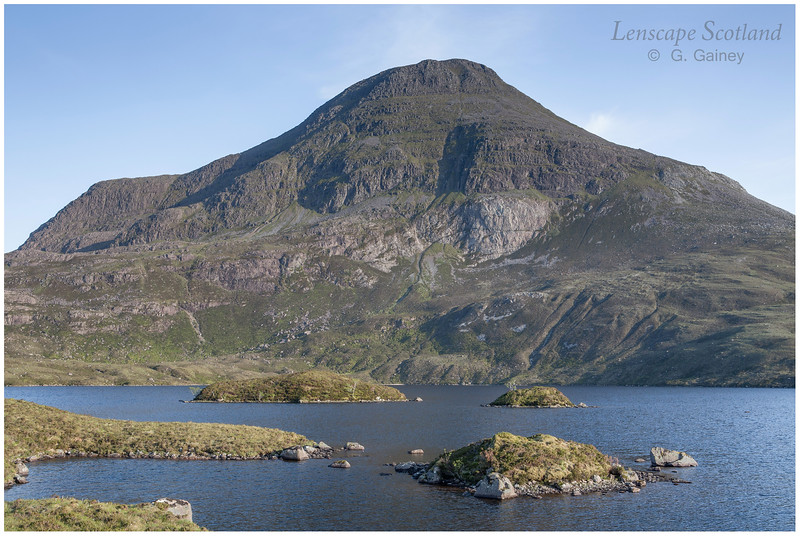 Maol Chean-dearg from Loch an Eoin, evening
