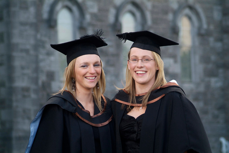 Niamh Hosey, Tullow Rd. Carlow and Catherine Greed, Templemore, Co. Tipperary, who were both conferred with BSc (Hons) in General Nursing at Waterford Institute of Technology. (pic-photozone)