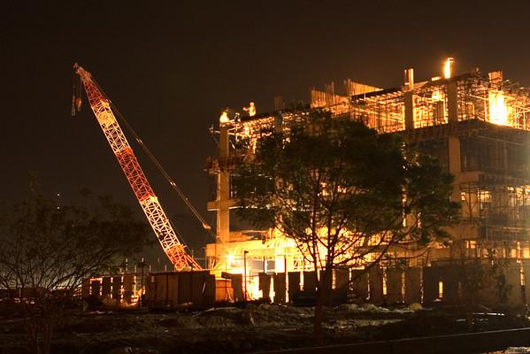 Construction at Night (10 Photographs)