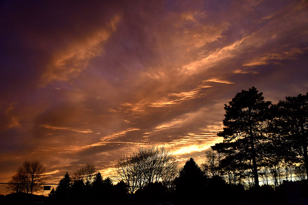 11/12/2019 MIke Orazzi | Staff The late fall sky over Berlin, Conn. on Tuesday evening.