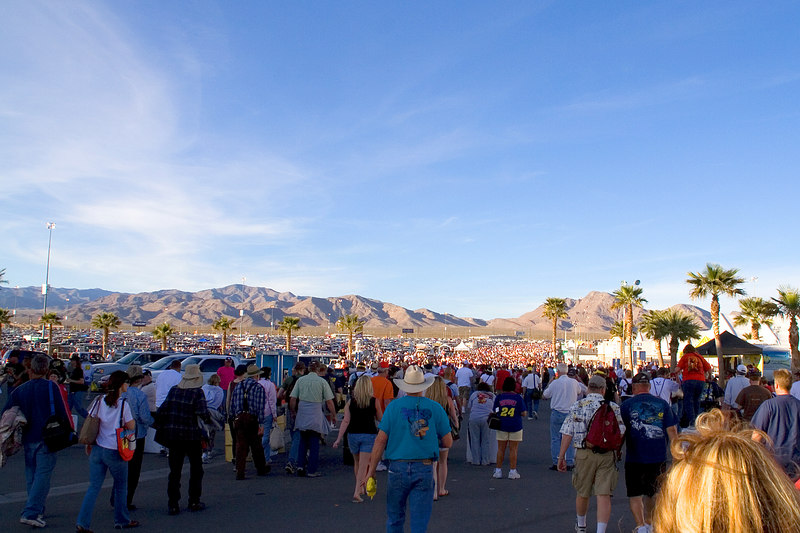 What it looks like when 140,000 spectators try to make it back to their cars.