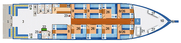 MV Similan Explorer Main Deck Plan