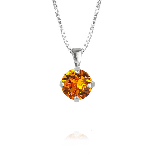Classic Petite Necklace / Tangerine Rhodium