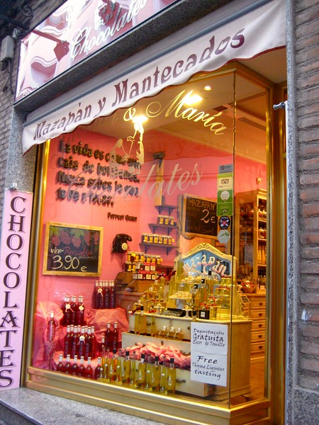 Shop window featuring marzipan.