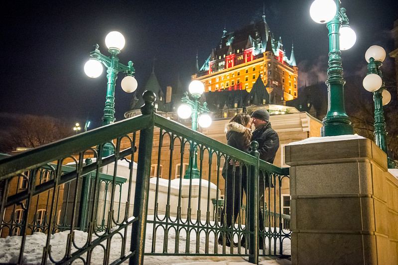 wedding proposal Michelle and Tylaer quebec city january 20th 2018