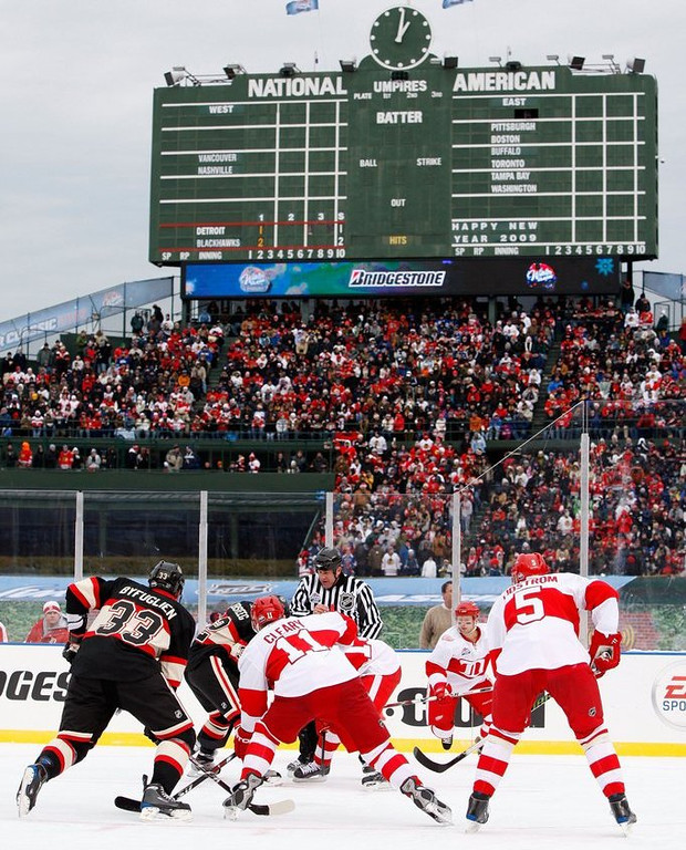 """. <p>10. (tie) NHL WINTER CLASSIC <p>Chicago gets a SECOND outdoor game before Minnesota gets its first? What the hell!?!?! (previous ranking: unranked) <p><b><a href=\'http://www.forbes.com/sites/jesselawrence/2014/02/26/blackhawks-tickets-at-soldier-field-second-most-expensive-outdoor-game-this-season/\' target=\""""_blank\""""> HUH?</a></b> <p>   (Jamie Squire/Getty Images)"""