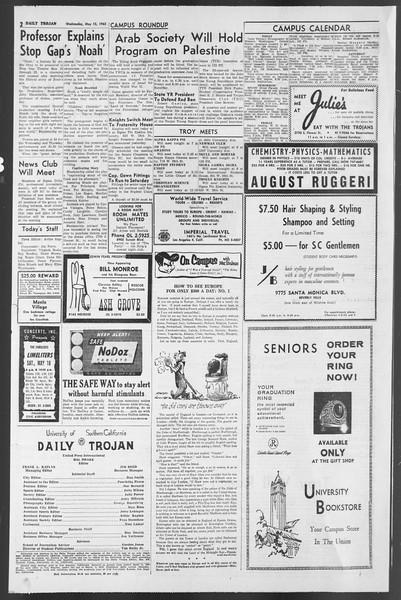 Daily Trojan, Vol. 54, No. 118, May 15, 1963