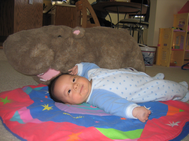 Hippo and me, 2 month-old.jpg