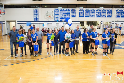Marquette Girls Volleyball Senior Night 2017