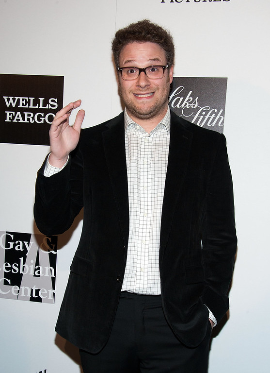 ". Seth Rogen arrives at ""An Evening\"" Benefiting The L.A. Gay & Lesbian Center at the Beverly Wilshire Four Seasons Hotel on March 21, 2013 in Beverly Hills, California. (Photo by Valerie Macon/Getty Images)"