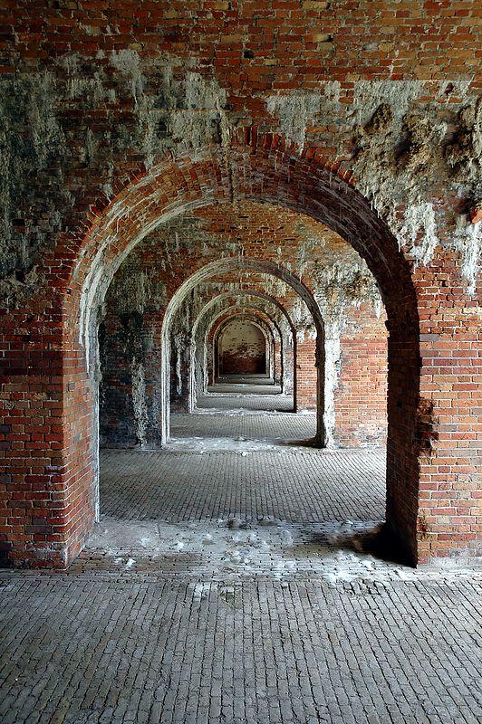 Arches at Fort Morgan.