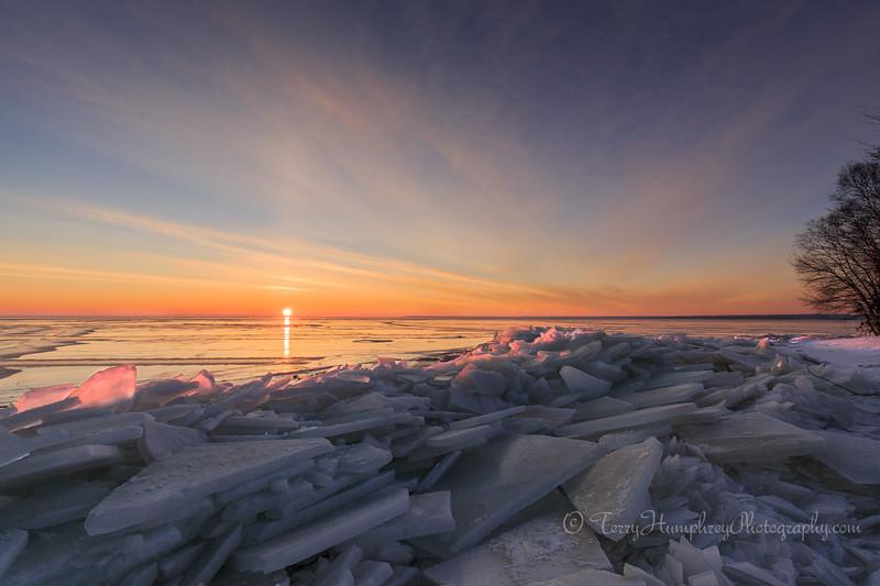 Broken Ice Sunrise #1