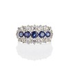 2.90ctw Old European Cut and Sapphire Princess Style Ring 0
