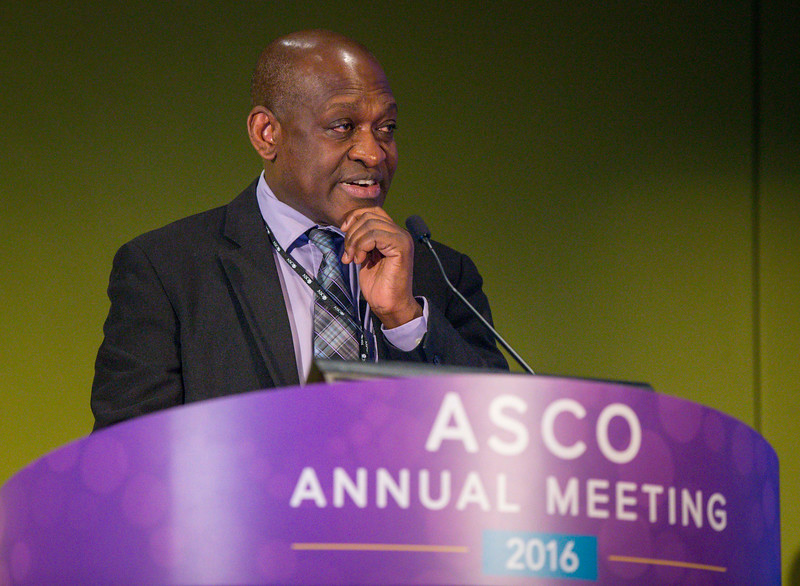 Alex A. Adjei, MD, PhD, speaks during Precision Medicine: Making Progress for Patient Benefit