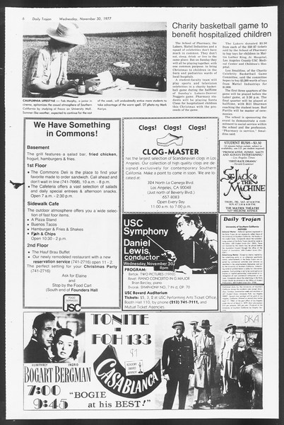 Daily Trojan, Vol. 72, No. 47, November 30, 1977