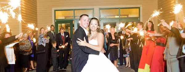 Wedding Send Off with Sparklers