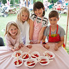 Countryside Restoration Trust, Festival of Farming and Food - these kids did a great job selling strawberries and cream!