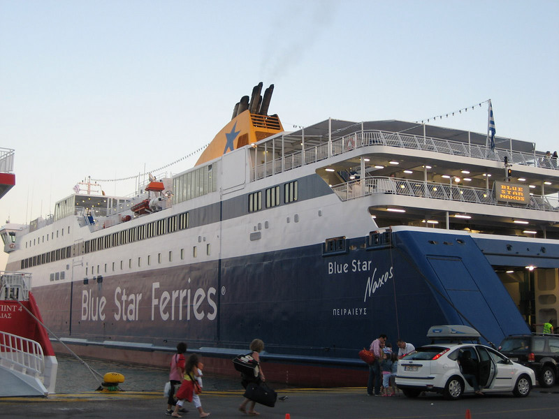 Our ferry to Syros, at the Pirraeius port in Athens.