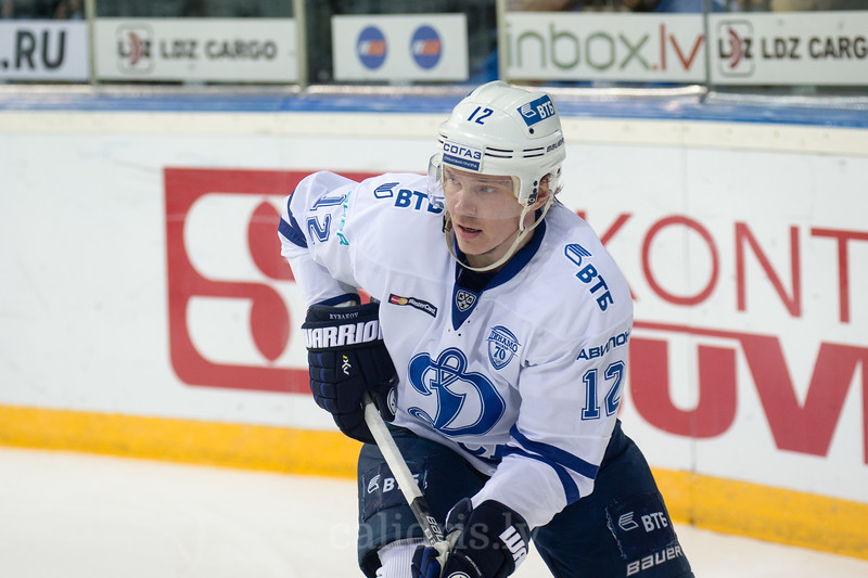 Alexander Rybakov (12) in the KHL regular championship game between Dinamo Riga and Dynamo Moscow, played on October 3, 2016 in Arena Riga