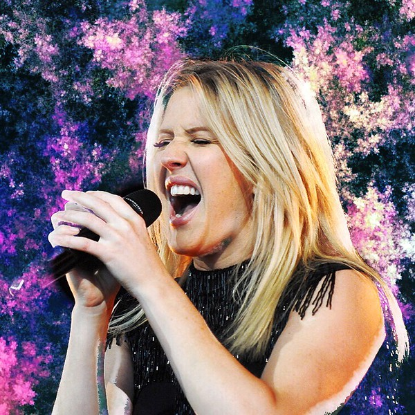 Jack Haley/Messenger Post Media.Ellie Goulding sings during her concert Tuesday night at CMAC. Matt & Kim were the opening act.