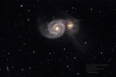Messier 51, the Whirlpool galaxy in Canes Venatici