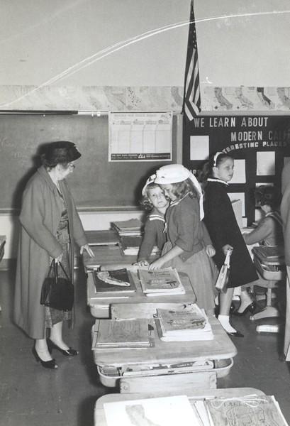 Grandma Potwin, Linda, Kathy - March or April, 1960