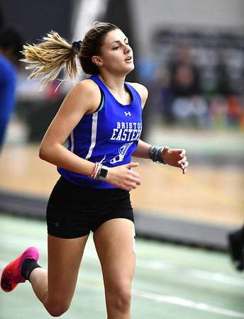 2/1/2020 Mike Orazzi | StaffrBristol Eastern's Avery Braccia in the 600 meter run during the CCC Indoor Track & Field Championships at the Floyd Little Athletic Center in New Haven on Saturday.