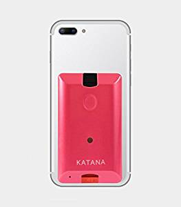 phone with katana pink box attached