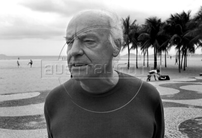 Eduardo Galeano on Copacabana beach
